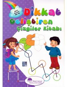 Mor Şemsiye Yayınları 60 ay Dikkat Geliştiren Çizgiler Kitabı