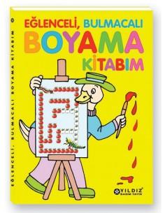 Yıldız Yayınları Eğlenceli, Bulmacalı Boyama Kitabı
