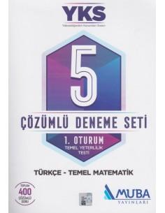 Muba Yayınları YKS 5 Çözümlü Deneme Seti 1. Oturum