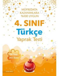Nartest 4.Sınıf Türkçe Yaprak Testi