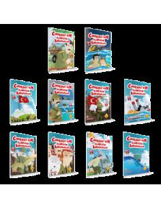 Damla Yayınları Çanakkale'nin Ölümsüz Kahramanları ( 10 Kitap )