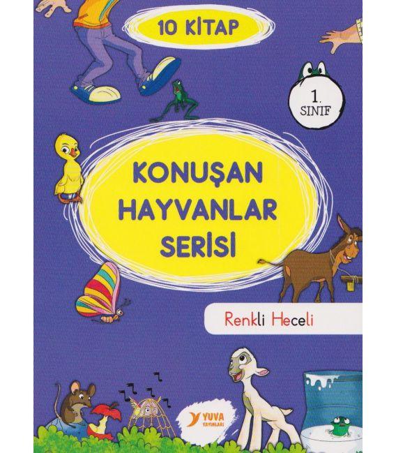 Yuva Yayınları 1. Sınıf Konuşan Hayvanlar El yazılı, Renkli Heceli Set