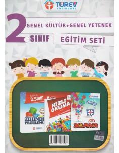 Türev Yayınları 2.Sınıf Genel Kültür Genel Yetenek Eğitim Seti