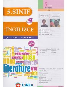 Türev Yayınları 5. Sınıf Ingilizce Çek-Kopart Yaprak Test