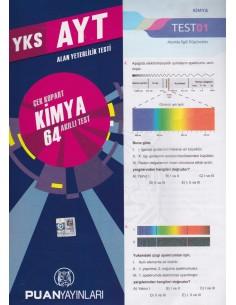 Puan Yayınları YKS 2. Oturum AYT Kimya Çek Kopart 64 Akıllı Test