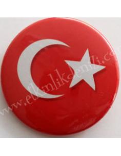Mudu Yayıncılık Türk Bayrağı Rozeti
