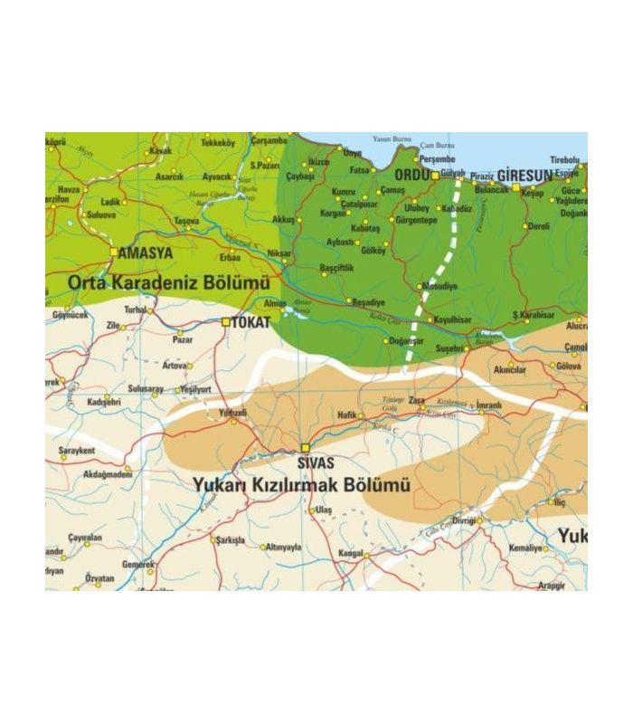 Türkiye Iklim Haritası 70x100 Gürbüz Yayınları
