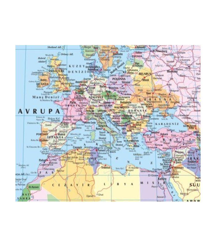 Dünya Siyasi Haritası 70x100 Gürbüz Yayınları