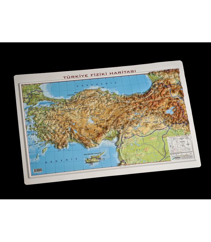 Kabartma Türkiye Fiziki Haritası 35x50 Gürbüz Yayınları