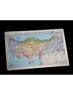 Kabartma Türkiye Coğrafi Bölgeler Haritası (35x50) - Gürbüz Yayınları