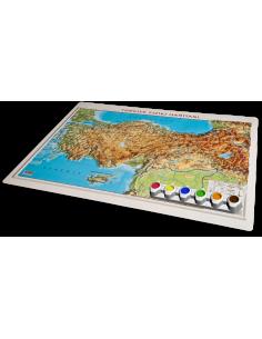 Kabartma YAP - BOY Türkiye Fiziki Haritası (35x50) - Gürbüz Yayınları