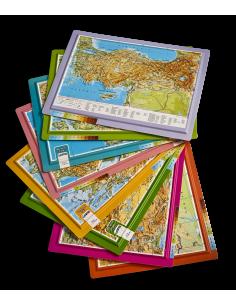 Kabartma Türkiye Atlası (A4 Boyutu) - Gürbüz Yayınları