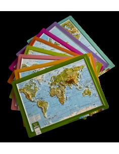 Kabartma Dünya Atlası (A4 Boyutu) - Gürbüz Yayınları