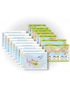 Türkiye Coğrafyası 17'li Harita Seti (70x100) - Gürbüz Yayınları