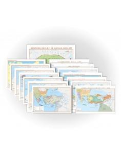 15'li Tarih Haritaları Seti (70x100) - Gürbüz Yayınları