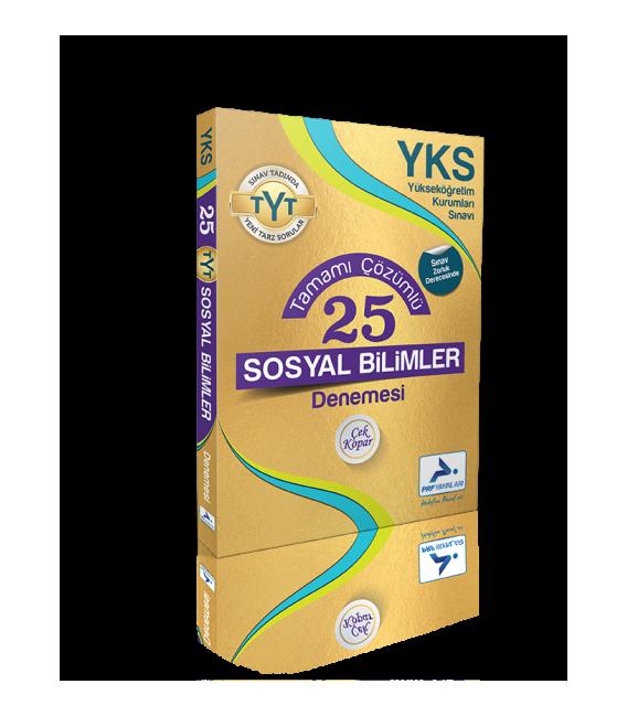 Paraf Yayınları YKS TYT Çözümlü 25 Sosyal Bilimler Denemesi