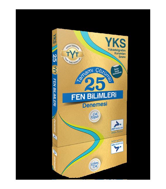 Paraf Yayınları YKS TYT Çözümlü 25 Fen Bilimleri Denemesi