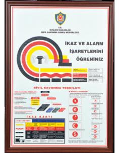 İkaz ve Alarm İşaretleri (MDF - Alüminyum Çerçeve)