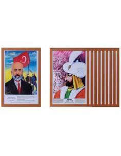 Türk Büyükleri Seti 23'lü (MDF Çerçeve) - ANT 276