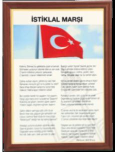 İstiklal Marşı (MDF - Alüminyum - Özel Çerçeve)