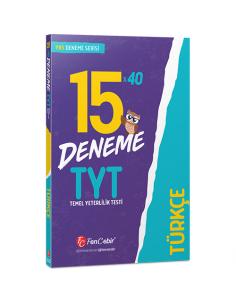 FenCebir Yayınları TYT Türkçe 15x40 Deneme