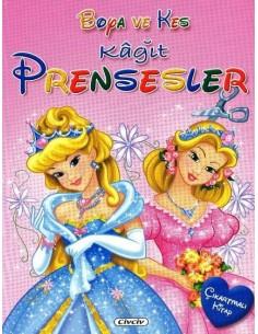 Çiçek Yayıncılık Boya ve Kes - Prensesler