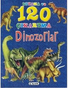 Çiçek Yayıncılık Boyama ve 120 Çıkartma - Dinozorlar