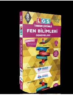 Yanıt 8. Sınıf LGS Tamamı Çözümlü Fen Bilimleri Denemeleri