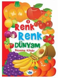 Düş Gemisi Yayınları Renk Renk Dünyam Boyama Kitabı - Meyveler ve Sebzeler