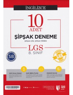 Teas Press 8. Sınıf LGS Matematik 10 Adet Şipşak Deneme