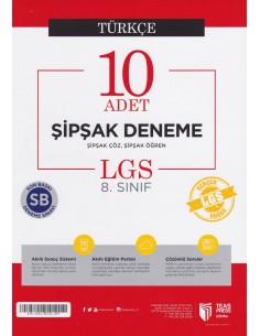 Teas Press 8. Sınıf LGS İngilizce 10 Adet Şipşak Deneme