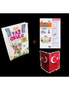 5 Renk 3. Sınıf Kampanyalı Yaz Okulu Tatil Kitabı (Yaprak Test + Karne Kılıfı)