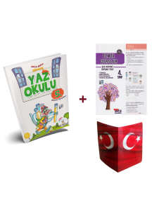 5 Renk 4. Sınıf Kampanyalı Yaz Okulu Tatil Kitabı (Yaprak Test + Karne Kılıfı)