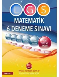 Nartest 8. Sınıf LGS 6 Matematik Deneme Sınavı