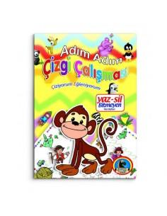 Karatay Çocuk Yayınları Yaz Sil Çizgi Çalışması