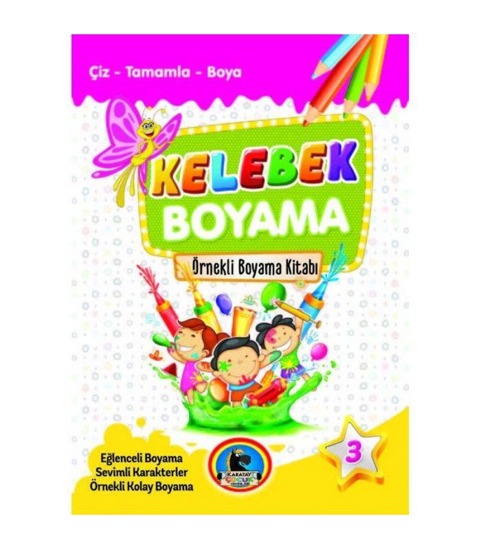 Karatay çocuk Yayınları Kelebek Boyama