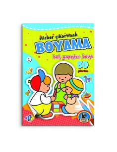 Karatay Çocuk Yayınları Sticker Çıkartmalı Boyama