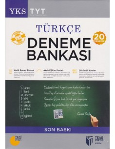 Teas Press YKS-TYT Türkçe Deneme Bankası