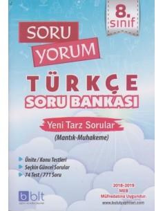 Bulut Eğitim 8. Sınıf Soru Yorum Türkçe Soru Bankası-2018 Müfredat