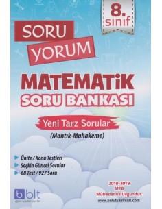 Bulut Eğitim 8. Sınıf Soru Yorum Matematik Soru Bankası- 2018 Müfredat