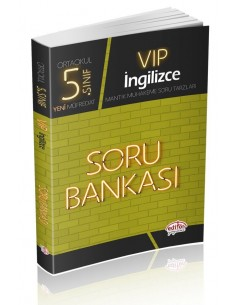 Editör Yayınları Ortaokul 5.Sınıf VİP İngilizce Soru Bankası