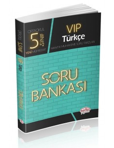 Editör Yayınları Ortaokul 5.Sınıf VİP Türkçe Soru Bankası