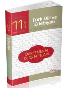 Editör Yayınları Lise 11.Sınıf Türk Edebiyatı Öğretmenin Ders Notları