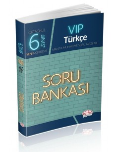 Editör Yayınları Ortaokul 6.Sınıf VİP Türkçe Soru Bankası