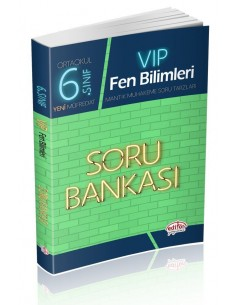 Editör Yayınları 6.Sınıf VIP Fen Bilimleri Soru Bankası