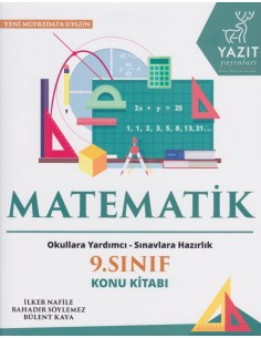 Yazıt Yayınları 9.Sınıf Matematik Konu Kitabı