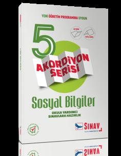 Sınav Yayınları 5.Sınıf Sosyal Bilgiler Akordiyon Kitap