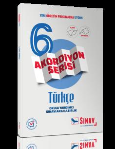 Sınav Yayınları 6.Sınıf Türkçe Akordiyon Kitap