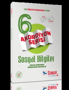 Sınav Yayınları 6.Sınıf Sosyal Bilgiler Akordiyon Kitap