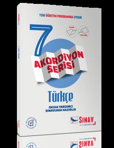 Sınav Yayınları Ortaokul 7.Sınıf Türkçe Akordiyon Kitap